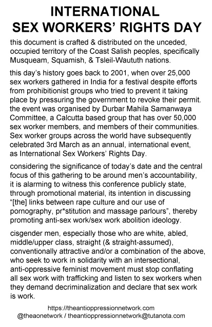 a text document titled International Sex Workers' Rights Day